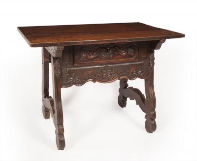 Mesa castellana, siglos XVII - XVIIIMadera de pino melis.