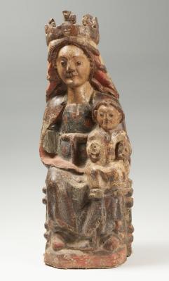 """""""Virgen con el Niño"""" Escuela castellana, siglo XIII."""