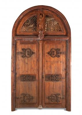 Puerta renacentista, siglo XVI- XVII.Madera de pino melis.