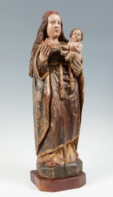 Escuela flamenca, s.XV.Virgen con Niño.