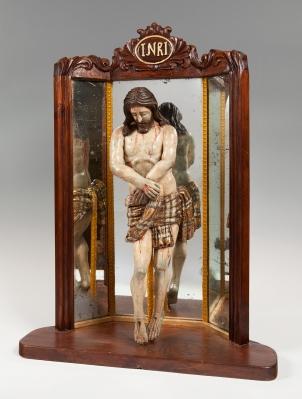 """""""Cristo de Pasión"""" Escuela española, siglo XVII."""