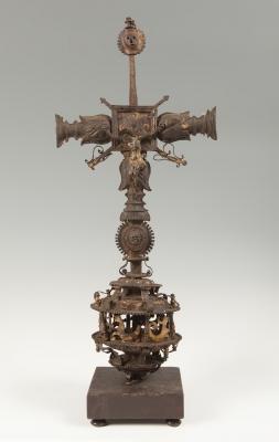 Escuela castellana, s.XV.Cruz gótica.En hierro.