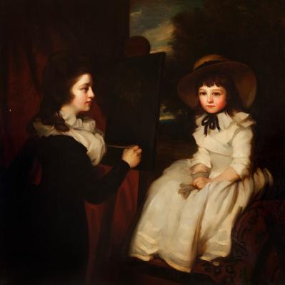 """""""Retratos de Henrietta y Mary Sebright"""" Atribuido a Phi"""