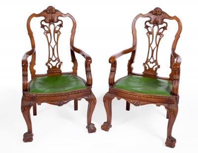 Pareja de sillones. Mediados del siglo XX.