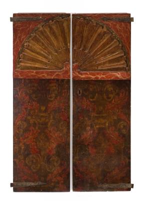 Pareja de puertas de armario. Siglo XVII.