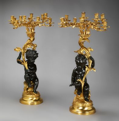 A pair of french candelabra, period Napoleon III. After