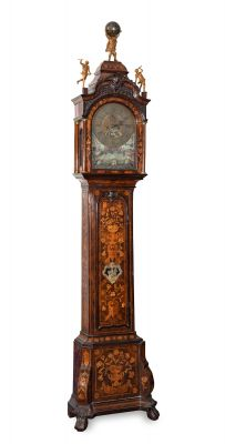 Upper case clock, Netherlands 18th centuryMachinery signed on the dial by