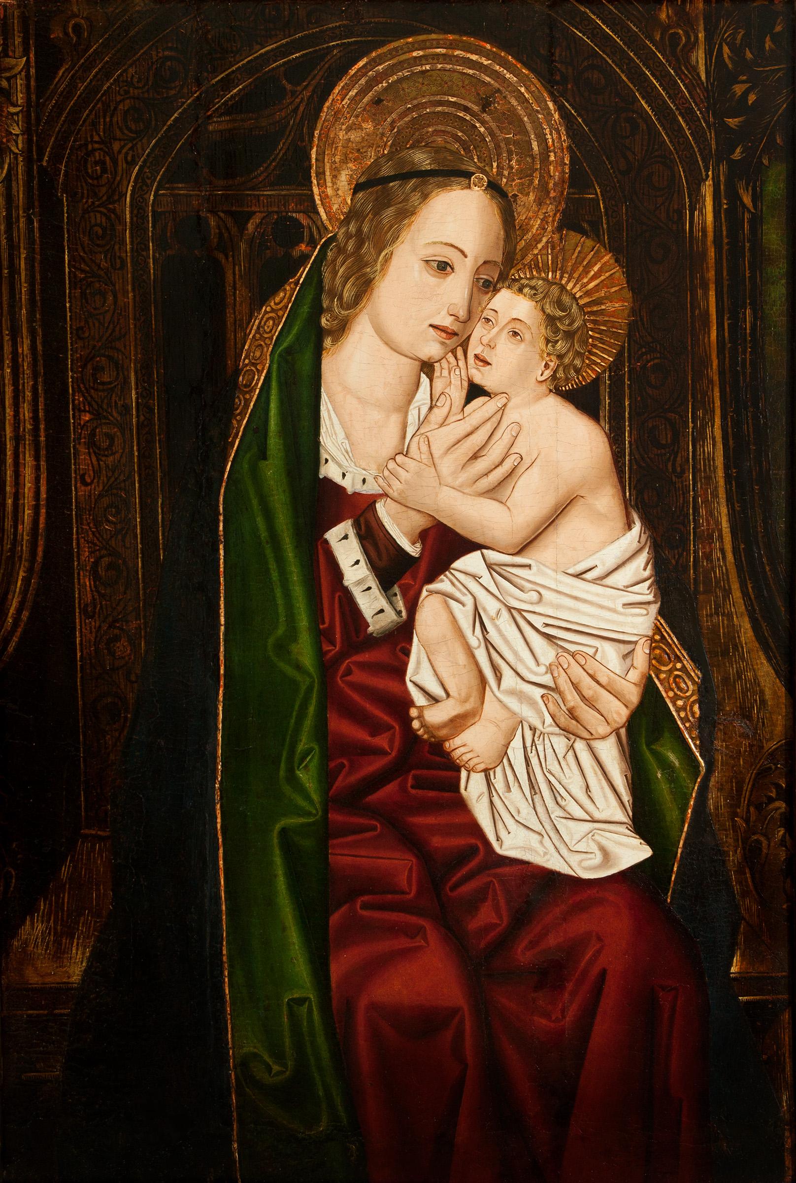 """""""Virgen con el Niño"""". MARTIN BERNAT"""
