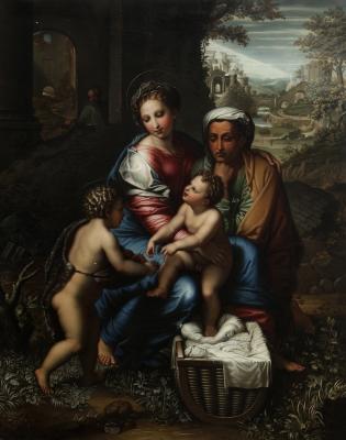 """""""Sagrada Familia con san Juanito, llamada La Perla"""" Esc"""