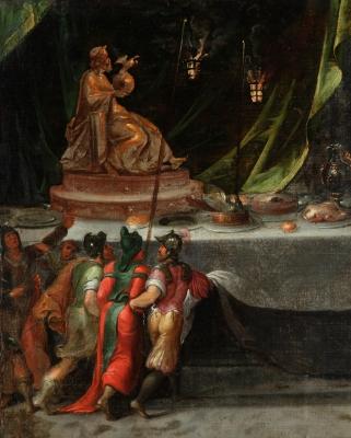 """""""Banquete con la estatua de Zeus en Olimpia"""" Posiblemen"""
