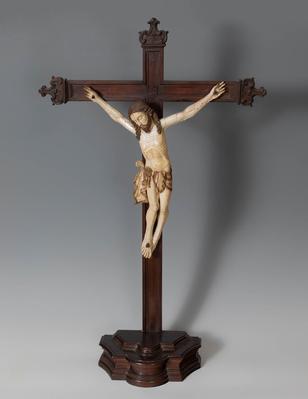 """Cristo crucificado"" Escuela indo-portuguesa, siglo XVII."