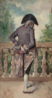 """""""Caballero"""", 1883. Benito Belli"""