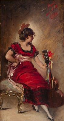 """""""Dama"""", 1883. Benito Belli"""