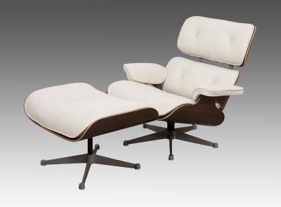 Sillón Eames 670 y Otomana 671, 1956.