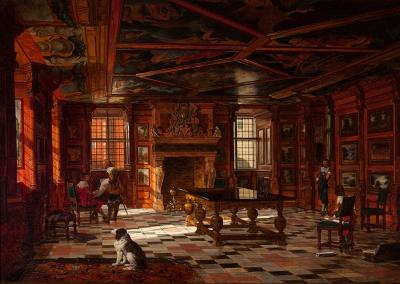 """El castillo Frederiksborg"" Josef Theodor Hansen"
