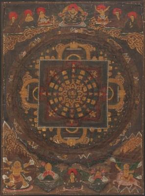 Thangka tibetano. Finales del s.