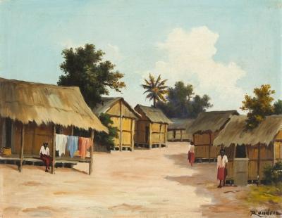 Escuela colonial de finales del s.