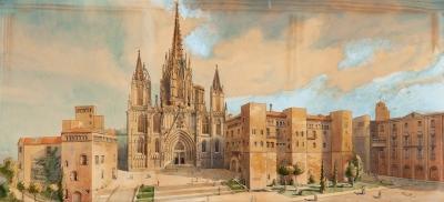 """""""La catedral de Barcelona"""" Escuela catalana, principios"""