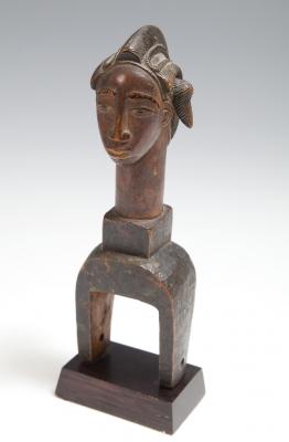 Polea del pueblo Baulé; Costa de Marfil, 1900-1925.
