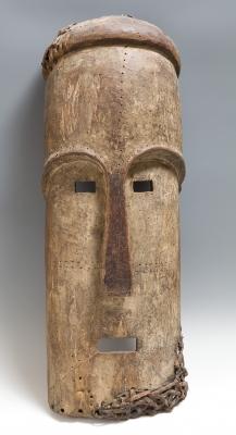 Máscara del pueblo Fang; Gabón, principios del siglo XX.