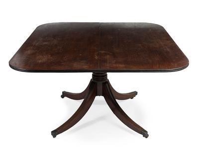 Tilt-top table. Jorge III, fin. s.XVIII