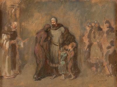 CANALS LLAMBÍ, Ricardo (Barcelona, 1876 – 1931)Sin título.