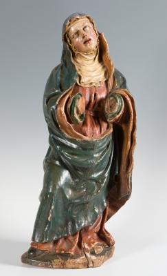"""""""Virgen Dolorosa"""" Escuela española del siglo XVII."""