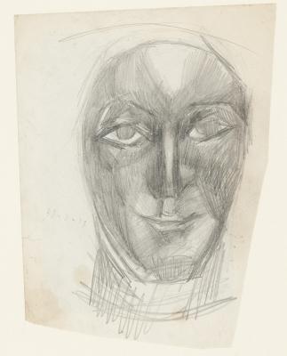 """""""Estudio de rostro"""" Posiblemente Julio González Pellicer"""