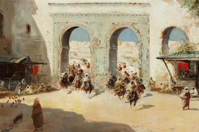 """""""La llegada de la caballería"""" Emilio Álvarez Ayom"""