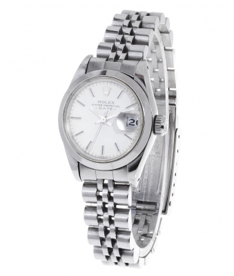 Reloj ROLEX Oyster Perpetual Date en acero, para señora.