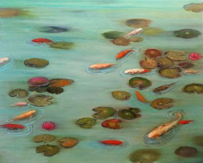"""""""Imaginary Koi Pond"""".2019. VALERIA PESCE"""