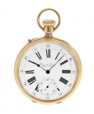 Reloj de bolsillo HAAS & PRIVAT. Chaux-de-Fonts, n.