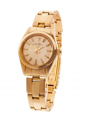 Reloj ROLEX de oro amarillo para señora.