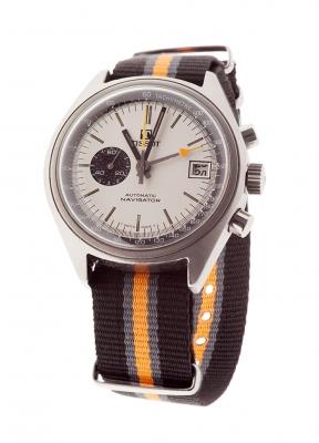 Reloj TISSOT Navigator, cronográfico. Esfera en blanco