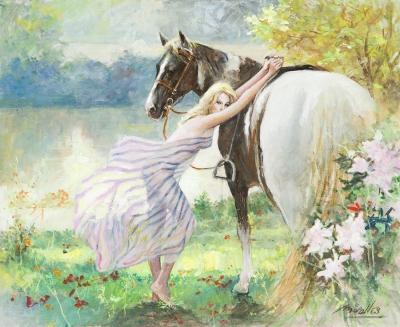 """Mujer y caballo"". MIRALLES, Josep Maria"