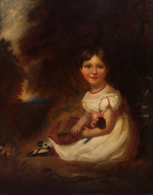 """Retrato de Elisabeth Farley Sawnders"" John Shirley Fox"