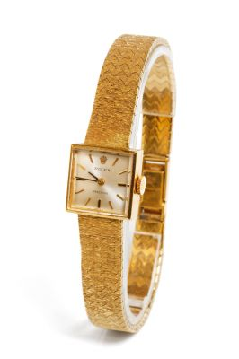 371/5000ROLEX Precision watch for women.In 18 kt yellow gold.