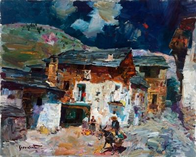 """""""Calle de pueblo"""", 1991. SERRASANTA, Josep"""