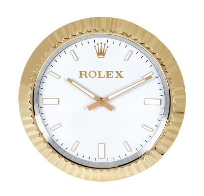 Réplica de pared del reloj Rólex para eventos deportivos.