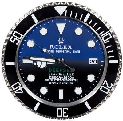 Reloj de pared, réplica del ROLEX Submariner Deepsea sea-dweller,último modelo de la firma.
