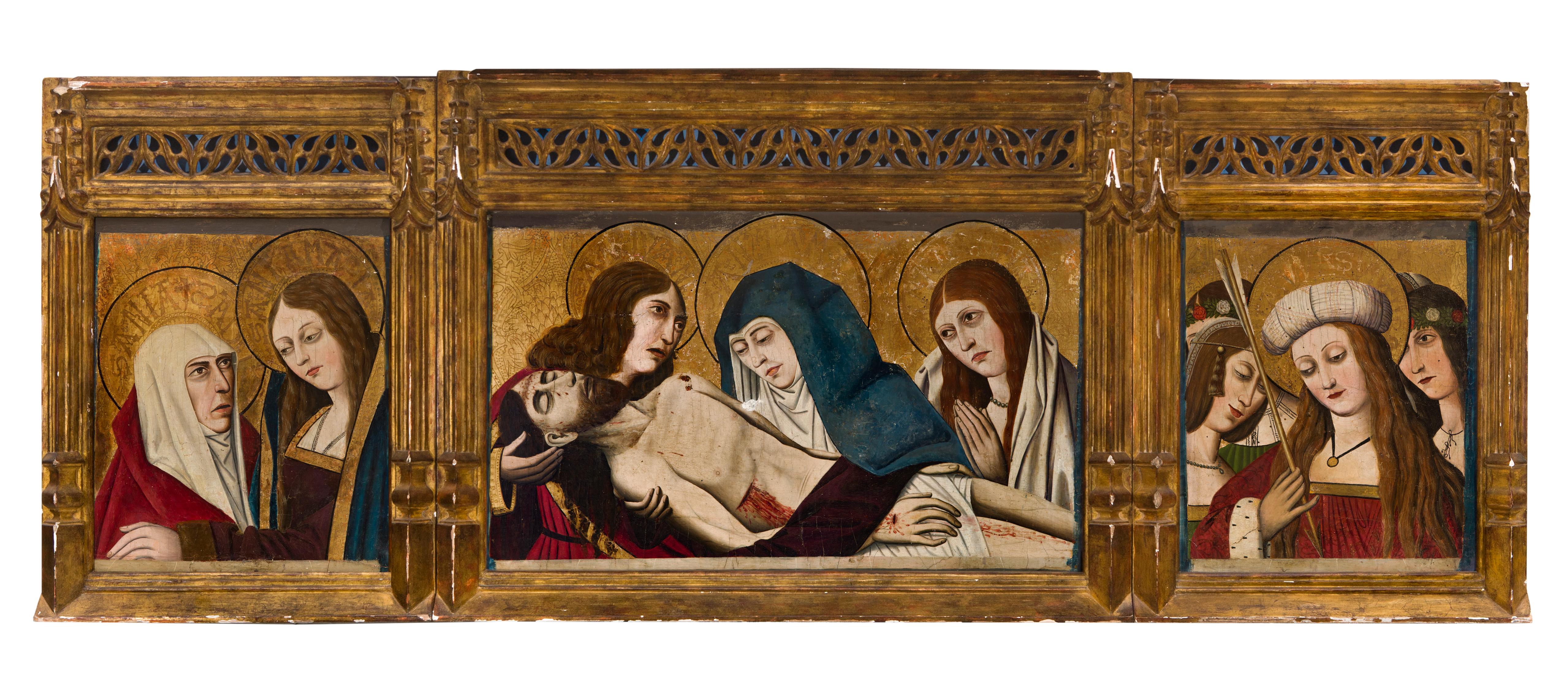 """""""Llanto sobre Cristo muerto; Visitación; santa Úrsula y"""