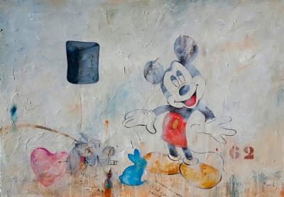 """""""Graffitis con ventana y Mickey 62"""" Miguel Ángel García Lopez"""