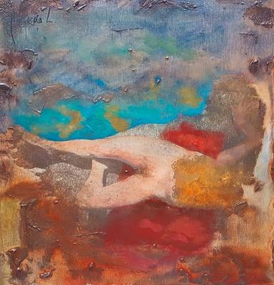"""""""Mujer en la playa"""". Miguel Ángel García López"""