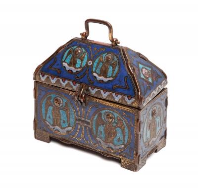 Arqueta de Limoges, siglo XIII. Cobre esmaltado