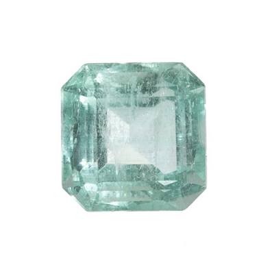 Berilo natural, variedad esmeralda, talla octogonal en