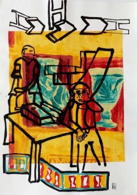 "Lote: 35143589Marijose Recalde (Pamplona, 1964).""Anfr_s constructivista""."