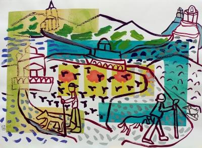 "Marijose Recalde (Pamplona, 1964).""Camino a Santiago""."