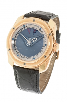 Reloj DE BETHUNE DB22 oro rosa. Esfera circular con dial de titanio