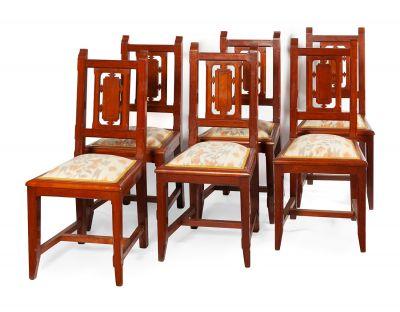 Conjunto de seis sillas. Francia, Art Decó, ca.