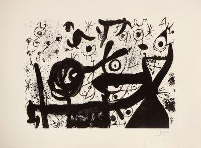 """""""Homenaje a Joan Prats"""", 1971. JOAN MIRÓ I FERRÀ"""